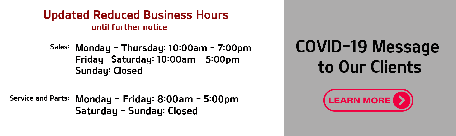 Reduced Hours