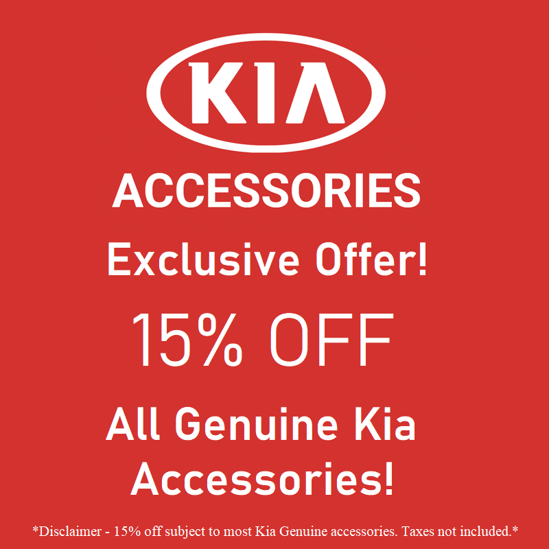 15% Off Kia Genuine Accessories