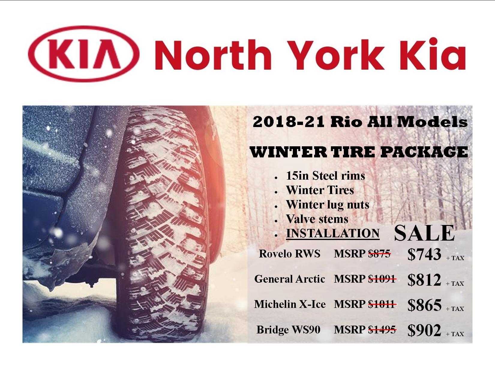 2018-Current Kia Rio/Rio5 General Winter Tire Package