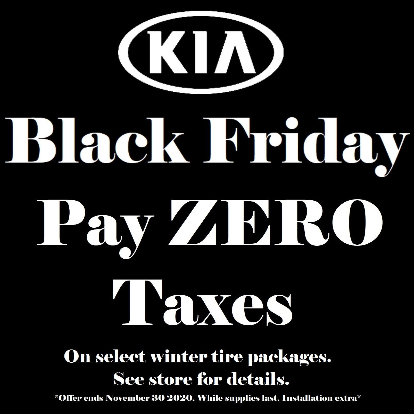 Black Friday Pay Zero Taxes on Select Winter Tire Packages