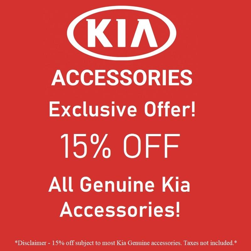 15% Off Kia Genuine Accessories