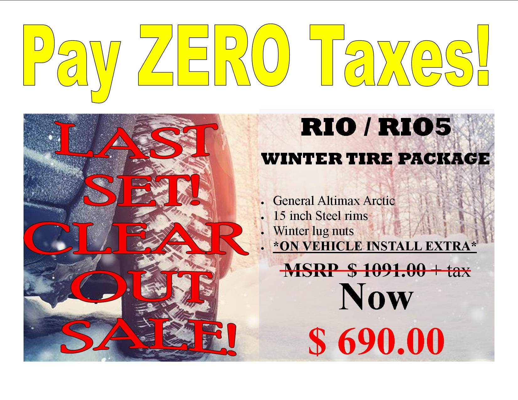 Kia Rio/Rio5 2012 – 2021 General Arctic 12 Winter Tire Package
