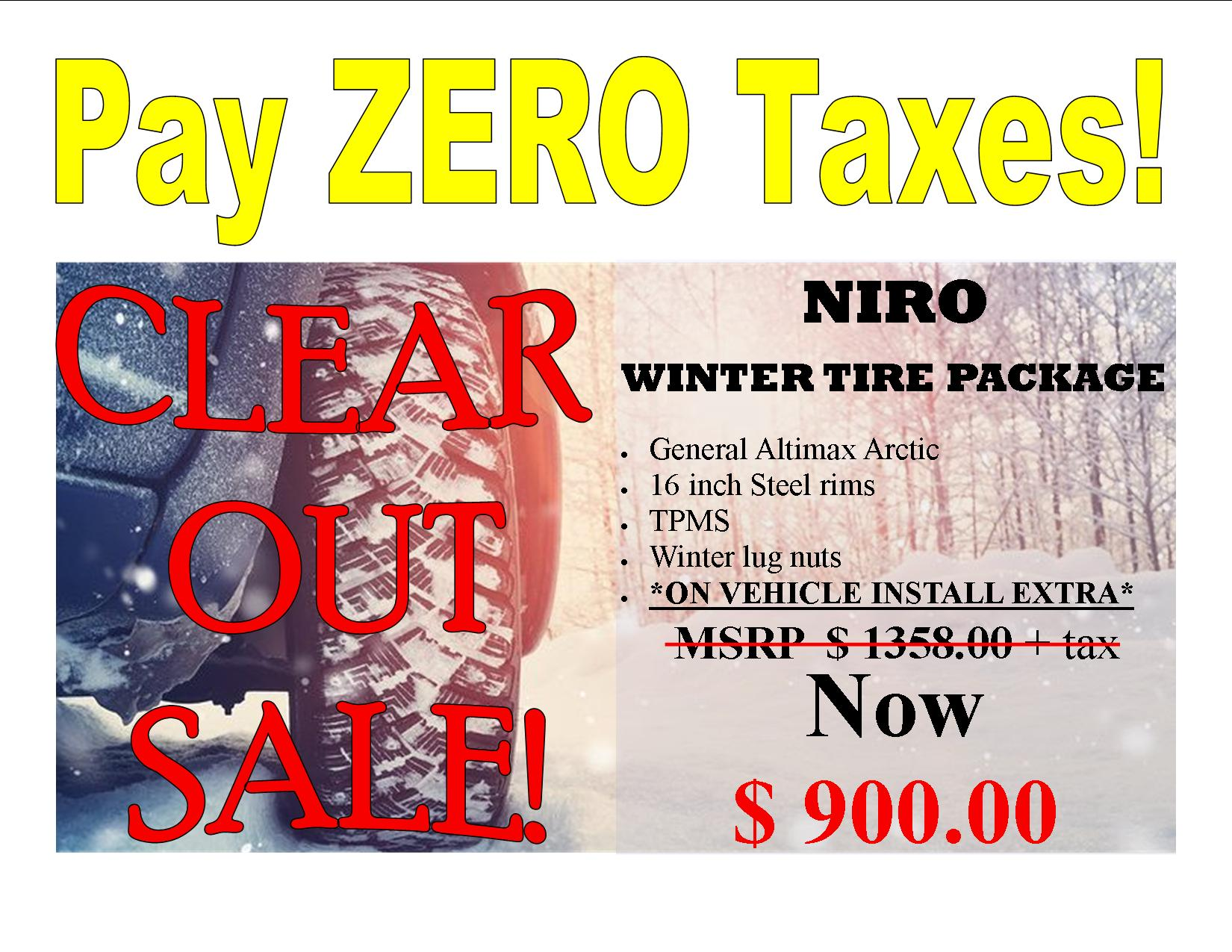 Kia Niro 2017 – 2021 General Arctic 12 Winter Tire Package
