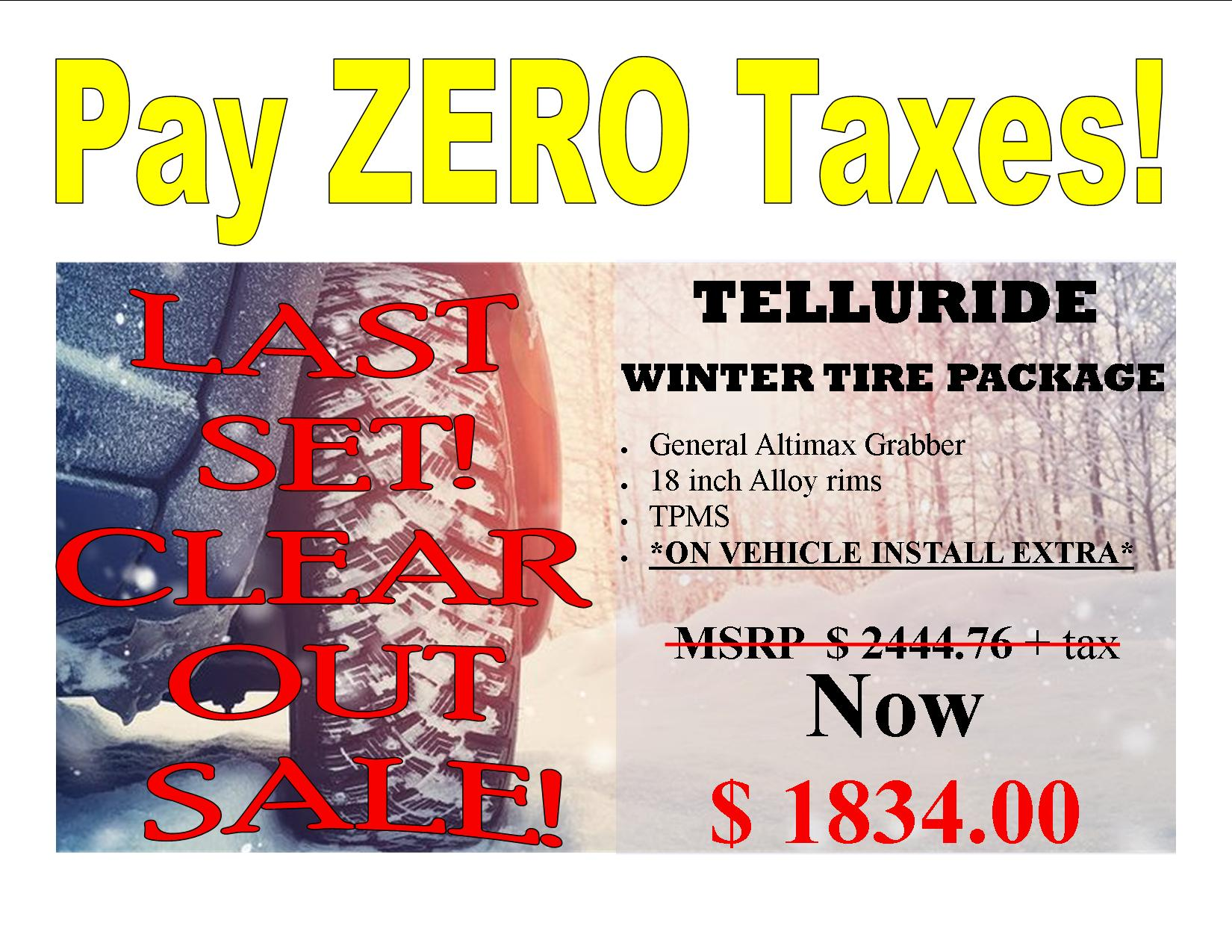 Kia Telluride 2020 – 2021 General Grabber Alloy Rim Tire Package