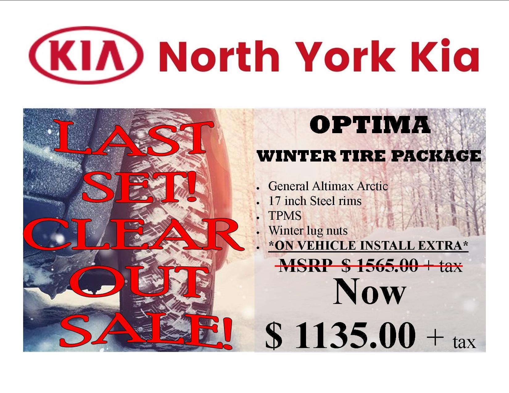 Kia Optima 2016 – 2020 General Arctic 12 Winter Tire Package